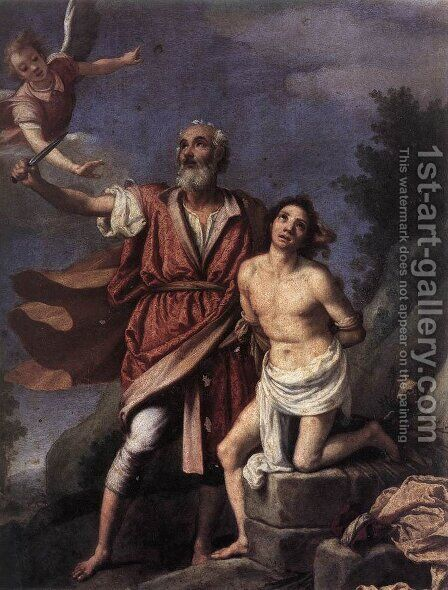 Sacrifice of Isaac 1590s by (Jacopo Chimenti) Empoli - Reproduction Oil Painting