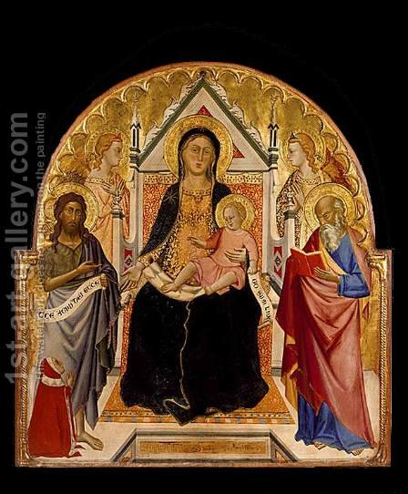 Madonna and Child with Sts John Baptist and Paul c. 1375 by Don Silvestro Dei Gherarducci - Reproduction Oil Painting