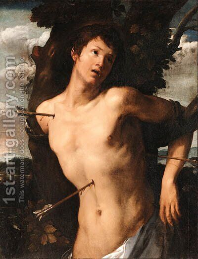 Saint Sebastian by Giovanni Battista Carlone - Reproduction Oil Painting