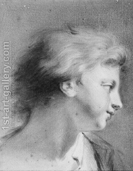 Portrait of a boy in profile to the right by Giovanni Battista Cipriani - Reproduction Oil Painting