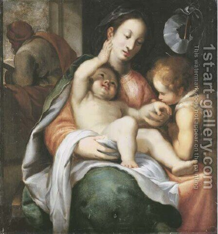 The Holy Family with the Infant Saint John the Baptist by Giovanni Battista Paggi - Reproduction Oil Painting