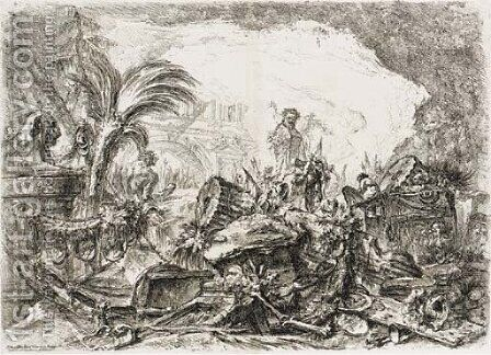 Grotteschi by Giovanni Battista Piranesi - Reproduction Oil Painting