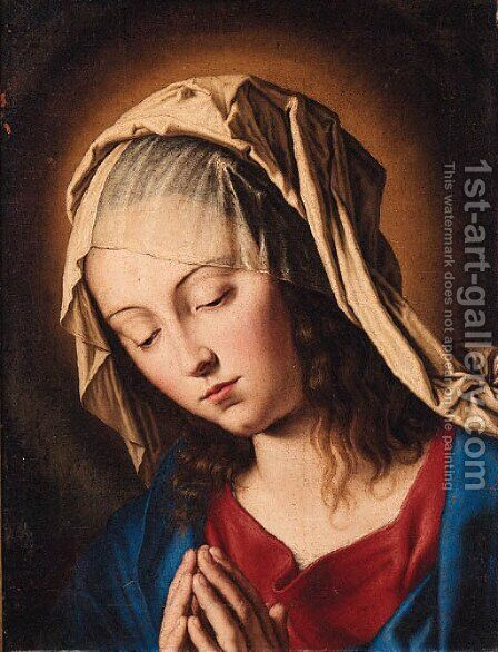 The Madonna at Prayer by Giovanni Battista Salvi, Il Sassoferrato - Reproduction Oil Painting