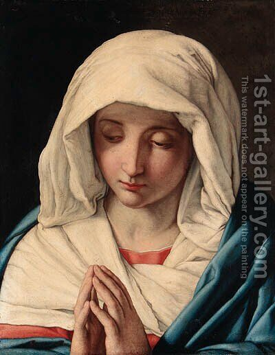 The Madonna at Prayer 2 by Giovanni Battista Salvi, Il Sassoferrato - Reproduction Oil Painting