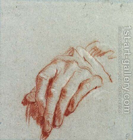 A left hand by Giovanni Battista Tiepolo - Reproduction Oil Painting