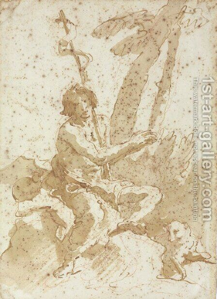 Saint John the Baptist by Giovanni Battista Tiepolo - Reproduction Oil Painting