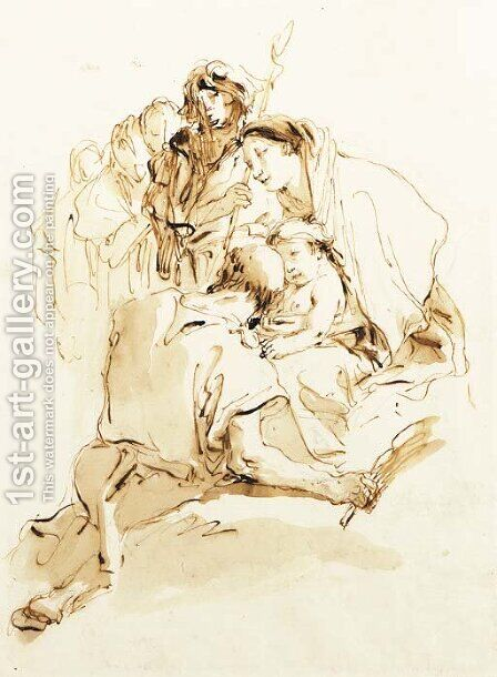 The Holy Family by Giovanni Battista Tiepolo - Reproduction Oil Painting
