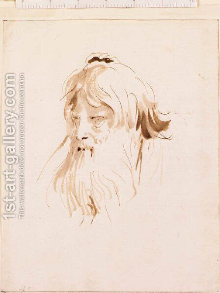 A fantastic Head of a bearded Man by Giovanni Battista Tiepolo - Reproduction Oil Painting