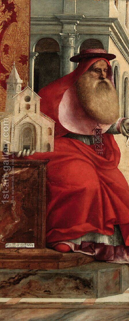 Saint Jerome a fragment from the altarpiece of S. Cristoforo della Pace of Murano by Giovanni Bellini - Reproduction Oil Painting