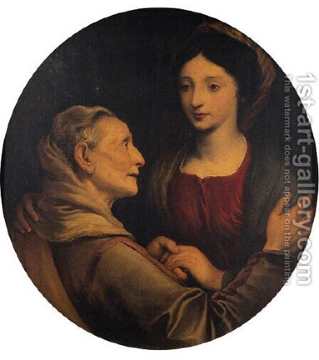 The Visitation by Giovanni Bernardo Carbone - Reproduction Oil Painting
