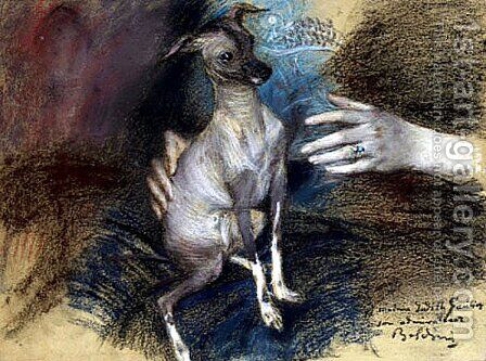 Elegante au chien by Giovanni Boldini - Reproduction Oil Painting