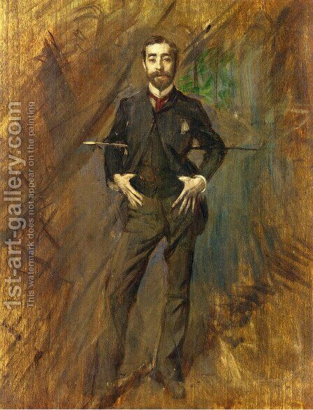 John Singer Sargent by Giovanni Boldini - Reproduction Oil Painting