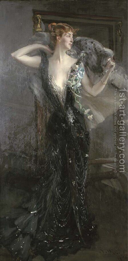 La Contessa Speranza by Giovanni Boldini - Reproduction Oil Painting