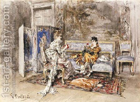 La Conversazione by Giovanni Boldini - Reproduction Oil Painting