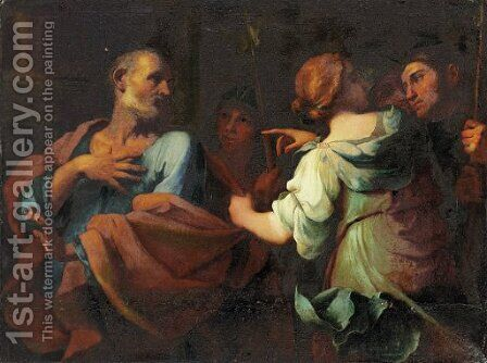 The Denial of Saint Peter by Giovanni Domenico Cerrini - Reproduction Oil Painting