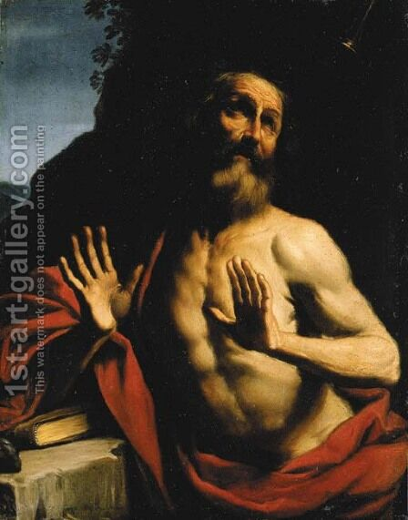 The Vision of Saint Jerome by Giovanni Francesco Guercino (BARBIERI) - Reproduction Oil Painting