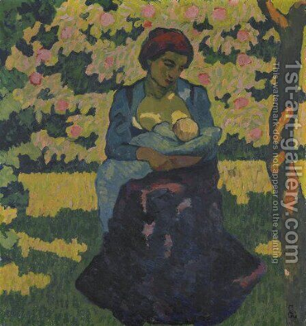 Die Mutter, um 1911 by Giovanni Giacometti - Reproduction Oil Painting