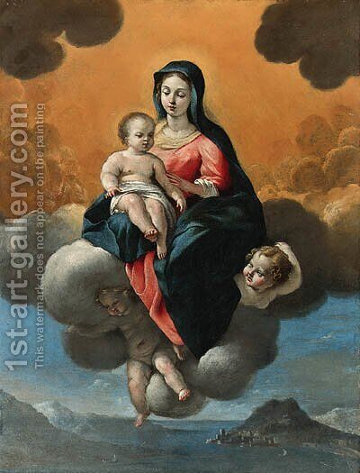 The Madonna and Child by Giovanni Lanfranco - Reproduction Oil Painting