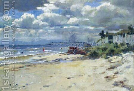 Port Philip Foreshore by Count Girolamo Pieri Nerli - Reproduction Oil Painting