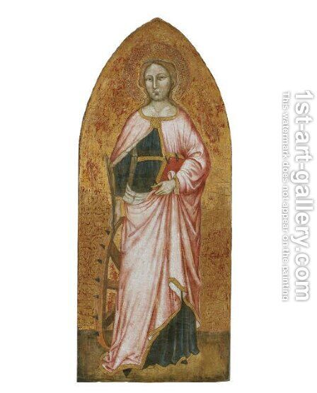 Saint Catherine by di Simone da Lucca Giuliano - Reproduction Oil Painting