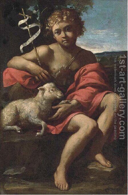 Saint John the Baptist by Giuseppe Pugli (Bastaro) - Reproduction Oil Painting