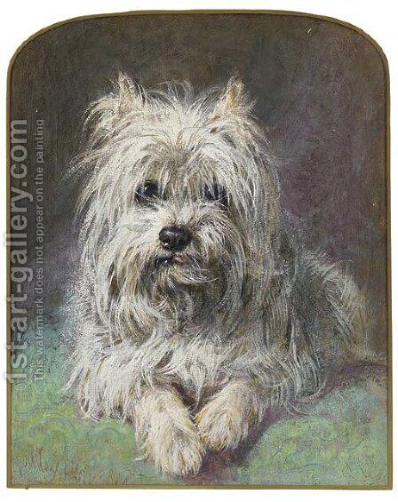 A West Highland terrier by Gourlay Steele - Reproduction Oil Painting