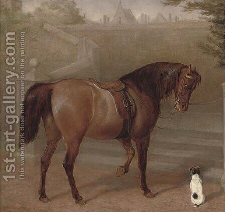 The doctor's pony by Gourlay Steell - Reproduction Oil Painting