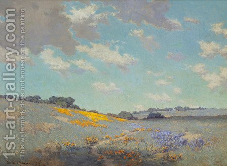 California Hills by Granville Redmond - Reproduction Oil Painting