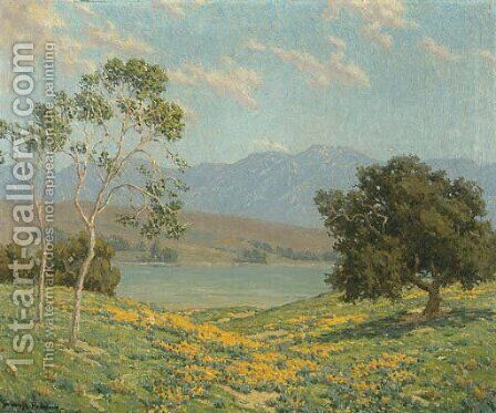 California Meadow by Granville Redmond - Reproduction Oil Painting