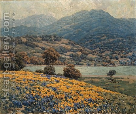 California Wild Flowers by Granville Redmond - Reproduction Oil Painting