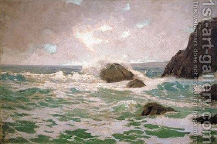 Late Afternoon Surf by Granville Redmond - Reproduction Oil Painting