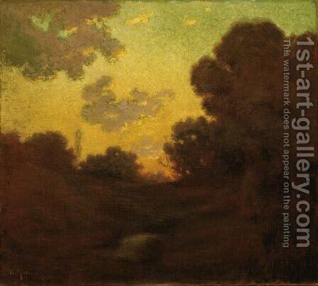 Sunset by Granville Redmond - Reproduction Oil Painting