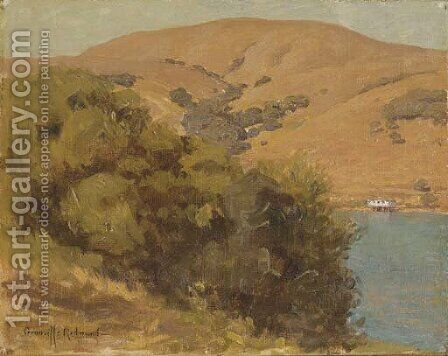 View of the Bay by Granville Redmond - Reproduction Oil Painting