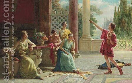 The Recital by Guglielmo Zocchi - Reproduction Oil Painting