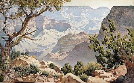 Grand Canyon by Gunnar Mauritz Widforss - Reproduction Oil Painting