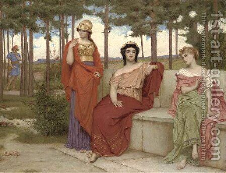 The Judgement of Paris by Gustave Pope - Reproduction Oil Painting