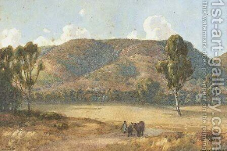 The Adelaide Foothills by Gustave A. Barnes - Reproduction Oil Painting