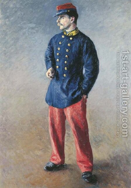 Un soldat by Gustave Caillebotte - Reproduction Oil Painting
