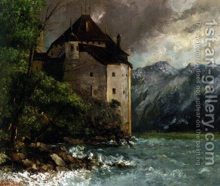 Chateau de Chillon by Gustave Courbet - Reproduction Oil Painting