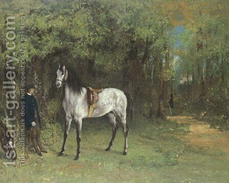 Rendez-vous de chasse by Gustave Courbet - Reproduction Oil Painting