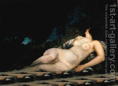 Femme endormie, tude by Gustave Courbet - Reproduction Oil Painting