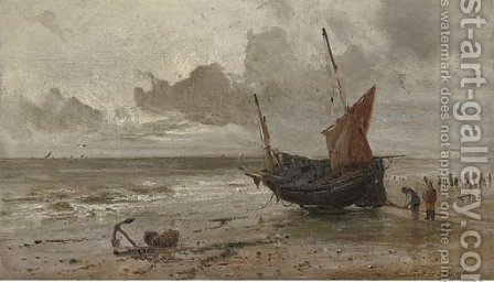 Off Hastings by Gustave de Breanski - Reproduction Oil Painting