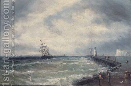 Returning to harbour by Gustave de Breanski - Reproduction Oil Painting