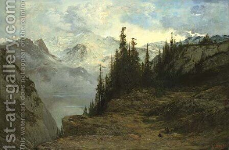 Paysage des Alpes by Gustave Dore - Reproduction Oil Painting