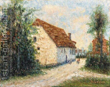 Chemin de village 2 by Gustave Loiseau - Reproduction Oil Painting