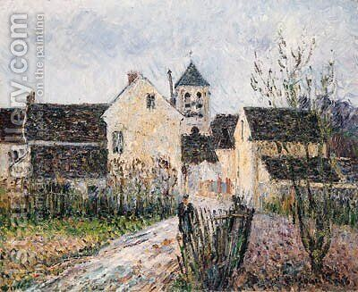 Entrance of the Village of Osny near Pontoise by Gustave Loiseau - Reproduction Oil Painting