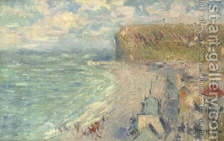 La plage de Fecamp by Gustave Loiseau - Reproduction Oil Painting