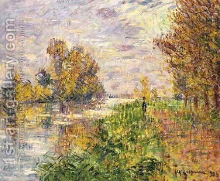 La riviere en Automne by Gustave Loiseau - Reproduction Oil Painting