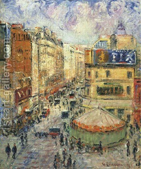 La rue de Clignancourt by Gustave Loiseau - Reproduction Oil Painting