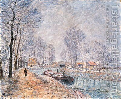 La Seine Pontoise by Gustave Loiseau - Reproduction Oil Painting